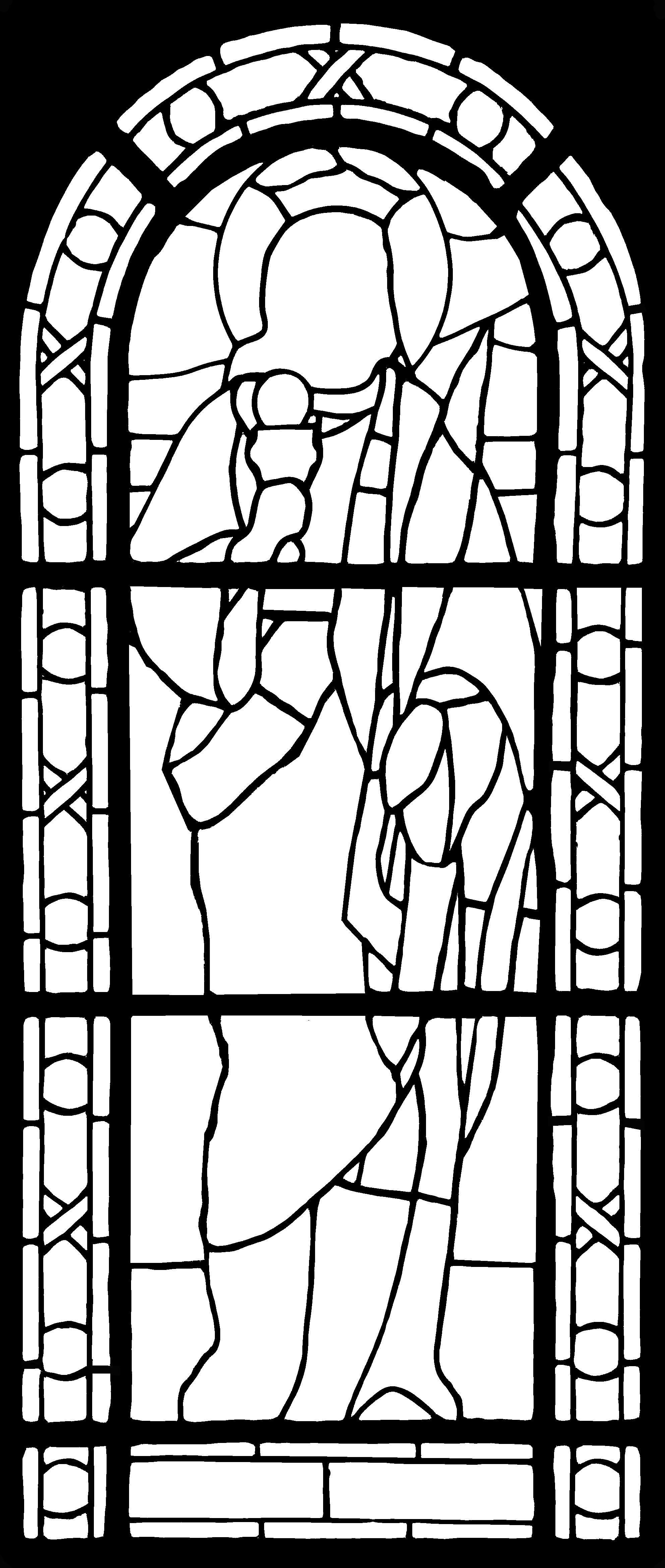 witraż (kontury) w wersji wektorowej (png)